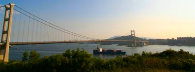 Tsing Ma bridge Hong Kong
